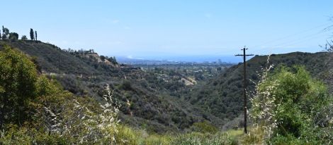View of Pacific from Rustic Canyon