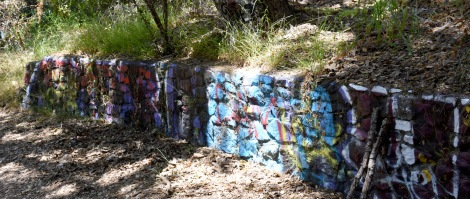 Painted wall - Murphy Ranch