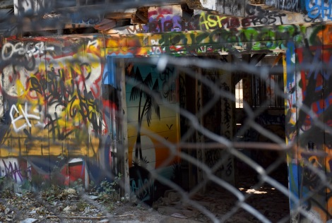 Detail - graffiti at Murphy Ranch
