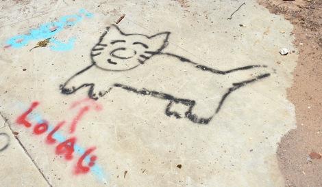 Graffiti Cat at Murphy Ranch