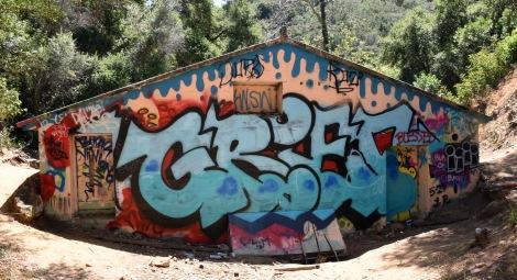 Graffiti back of Power Station - Murphy Ranch