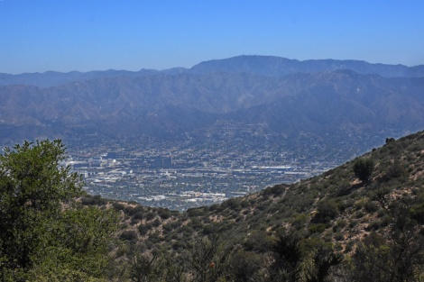 Views of the Verdugo Hills and the San Gabriel Mountains