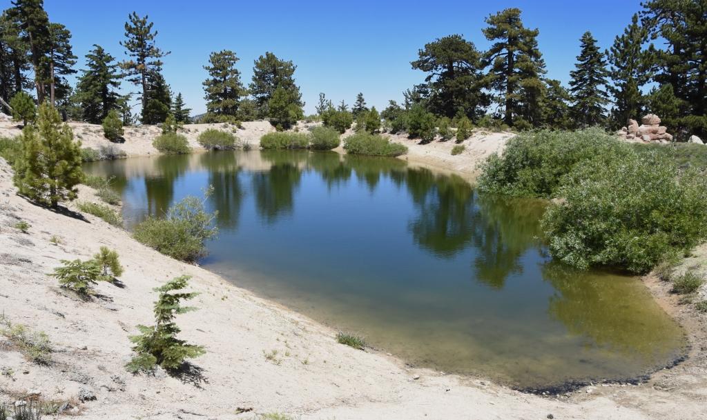 A small reservoir above Mt. Waterman ski area.